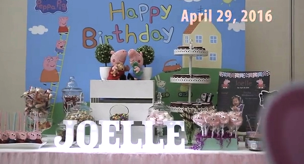 Joelle's 1st Peppa Pig Birthday Party